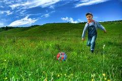 Fußballspieler Stockbild