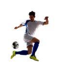 Fußballspieler in der Tätigkeit stockfotografie