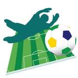 Fußballspieler-Farbvektor Lizenzfreie Stockfotos