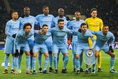 Fußballspieler Manchester City F C Stockfoto