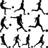 Fußballspieler Vektor Lizenzfreie Stockfotos