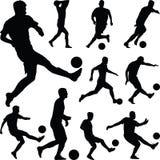 Fußballspieler Vektor stockfoto