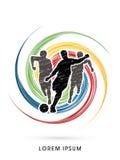 Fußballspielerlaufen Lizenzfreies Stockbild