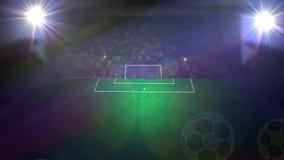 Fußballsportereignis-Stadionsarena vektor abbildung