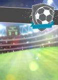 Fußballsporthintergrund Lizenzfreies Stockfoto
