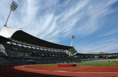 Fußballstadion. Lizenzfreies Stockbild