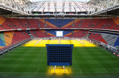 Fußballstadion nach innen lizenzfreie stockfotografie