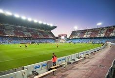 Fußballstadion Vicente-Calderon Stockfotografie