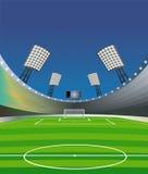 Fußballstadionhintergrund. Stockbild