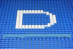 Fußballstadionlagerung Stockfoto