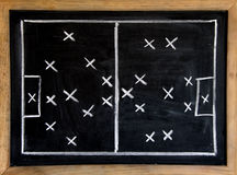 Fußballtaktik stockfoto