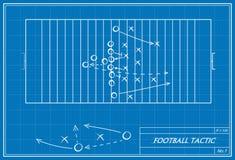 Fußballtaktik auf Plan Lizenzfreie Stockbilder