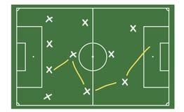 Fußballtaktiken vektor abbildung