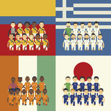 Fußballteam und -flagge Lizenzfreies Stockbild