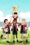 Fußballteamgewinnen Stockfoto