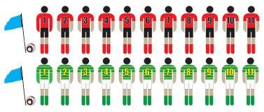 Fußballteams Lizenzfreie Stockfotos