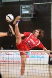 Fußballtennis - Blocken von Jan. Vanke Stockfotografie