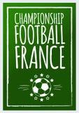 Fußballthemahintergrund Stockbilder