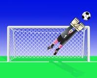 Fußballtorhüter. Lizenzfreie Stockfotos