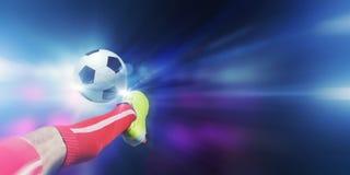 Fußballtritt Lizenzfreies Stockfoto