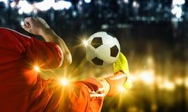 Fußballtritt Lizenzfreie Stockbilder