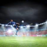 Fußballtritt Stockfoto