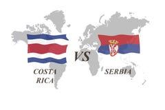 Fußballturnier Russland 2018 Gruppe E Costa Rica gegen Serbien Lizenzfreies Stockbild