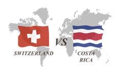 Fußballturnier Russland 2018 Gruppe E Die Schweiz gegen Costa R Lizenzfreies Stockbild