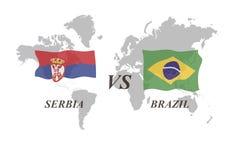 Fußballturnier Russland 2018 Gruppe E Serbien gegen Brasilien Stockfotos
