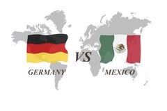 Fußballturnier Russland 2018 Gruppe F Deutschland gegen Mexiko Stockbild