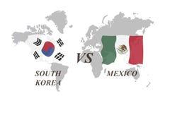 Fußballturnier Russland 2018 Gruppe F Südkorea gegen Mexiko Stockfoto