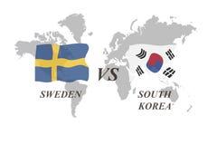 Fußballturnier Russland 2018 Gruppe F Schweden gegen Südkorea Stockbilder