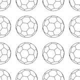 Fußballvektorikone, Emblem soccerball Vektorillustration lokalisiert im wei?en Hintergrund Linie Art Nahtloses Fu?ballmuster vektor abbildung