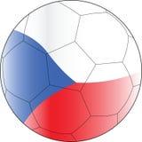 Fußballvektorkugel czechia Lizenzfreie Stockfotos