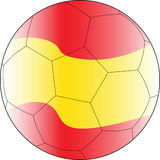 Fußballvektorkugel Spanien Stockfotografie