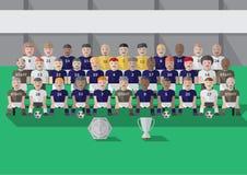 Fußballverein-Teamjahreszeit stockfotos