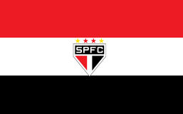 Fußballvereinillustration Sao-Paulo Brasilien Stockbilder