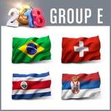 Fußballwettbewerb 2018 in Russland vektor abbildung