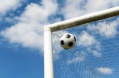Fußballziel Lizenzfreies Stockbild