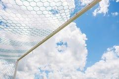 Fußballziele stockfoto