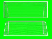 Fußbalziel Stockbild