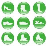 Fußbekleidung - vektorweb-Ikonen (Tasten) Stockfotografie