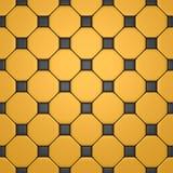 Fußboden mit den grauen und gelben Fliesen Stockfotografie