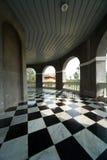 Fußboden mit Retro- checkered Muster Stockbild