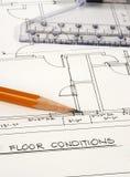 Fußboden-Pläne Stockfotografie