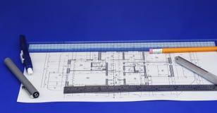 Fußboden-Plan-Auslegung Stockbilder