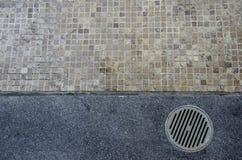 Fußbodenablaß Stockfoto