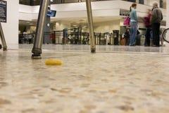 Fußbodenansicht zum Unterstand der Ankunft Lizenzfreie Stockfotografie