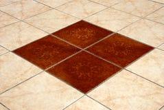 Fußbodenfliesen Stockbild