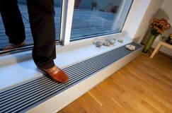 Fußbodenheizung im Innenraum lizenzfreie stockfotos